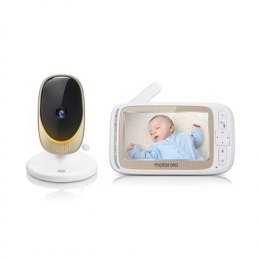 Motorola Comfort 60 Connect Baby Monitor, White/Gold