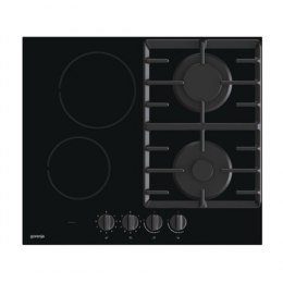 Gorenje Hob GCE691BSC Gas on glass + vitroceramic, Number of burners/cooking zones 4, Mechanical, Black