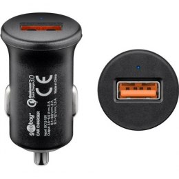 Goobay Quick Charge QC3.0 USB car fast charger USB 2.0 Female (Type A), Cigarette lighter Male