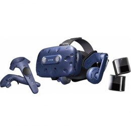 HTC Smart Glasses Vive Pro Eye Headset Black/Blue, VR glasses with built-in headphones, DisplayPort 1.2 or newer