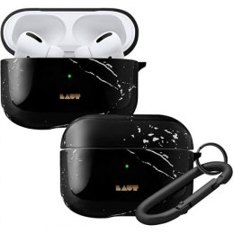 LAUT HUEX ELEMENTS for AirPods Pro Marble Black, Polycarbonate, Charging Case, Anti-Scratch, Apple AirPods Pro