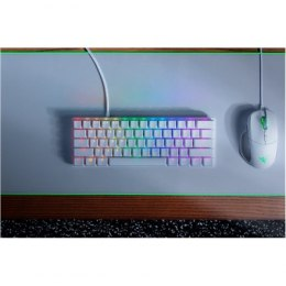 Razer Huntsman Mini, Gaming keyboard, RGB LED light, US, Mercury White, Wired
