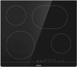 Gorenje Hob CT43SC Glass-ceramic plate, Number of burners/cooking zones 4, Touch Control, Timer, Black