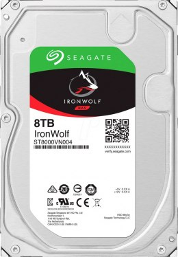 "Seagate NAS HDD IronWolf 8TB ST8000VN004 7200 RPM, 3.5 "", 8000 GB, SATA, 256 MB"