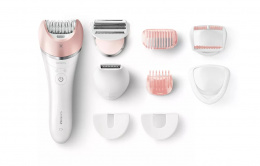 Philips Epilator Satinelle Advanced BRE640/00 Operating time 40 min, Cordless, Number of speeds 2, White/Rose