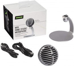 Shure MV5 Digital Condenser Microphone, Grey