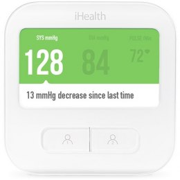 IHealth CLEAR Smart Blood Pressure Monitor White, Weight 350 g, Wireless, Method of measurement: Oscillimetric with automatic in