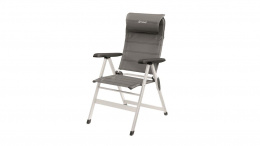 Outwell Foldable chair Milton 125 kg, Adjustable headrest and 7 position options, Grey