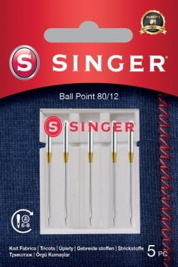 Singer Ball Point Needle 80/12 5PK for Knit Fabrics