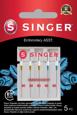 Singer Embroidery Needle ASST 5PK