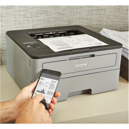 Brother HLL2350DW Mono, Laser, Standard, Wi-Fi, Maximum ISO A-series paper size A4, Grey/ black