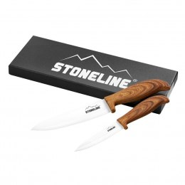 Stoneline Ceramic knifes 18334 Total length approx. 21 cm and 27 cm with blade protection, Material Ceramic, plastic, 2 pc(s), W