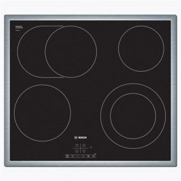 Bosch Hob PKN645B17 Vitroceramic, Number of burners/cooking zones 4, Black, Display, Timer