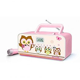 Muse M-29KP Pink/Image, 30 W, Portable radio CD/MP3 player with USB,