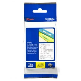 Brother TZe-145 Laminated Tape White on Clear, TZe, 8 m, 1.8 cm