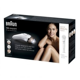 Braun Silk-expert IPL BD 5008 IPL Hair Removal System, Bulb lifetime (flashes) 120000, Gold, White, Battery