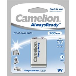 Camelion 9V/6HR61, 200 mAh, AlwaysReady Rechargeable Batteries Ni-MH, 1 pc(s)