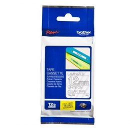 Brother TZe-135 Laminated Tape White on Clear, TZe, 1.2 cm, 8 m