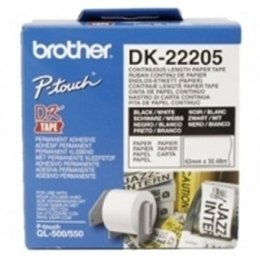 Brother DK-22205 Continuous Length Paper Label White, DK, 30.5 m
