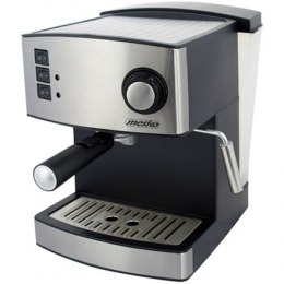 Mesko Espresso Machine MS 4403 Pump pressure 15 bar, Built-in milk frother, Semi-automatic, 850 W, Stainless steel/Black