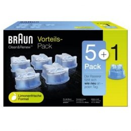 Braun CCR5 + 1 cleaning cartridges, 6 pack