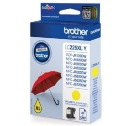 Brother LC225XLY Ink Cartridge, Yellow