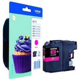 Brother LC123M Ink Cartridge, Magenta