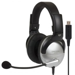 Koss Gaming headphones SB45 USB Headband/On-Ear, USB, Microphone, Silver/Black, Noice canceling,