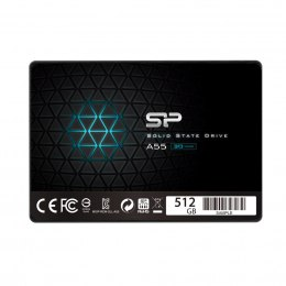 "Silicon Power A55 512 GB, SSD form factor 2.5"", SSD interface SATA, Write speed 530 MB/s, Read speed 560 MB/s"