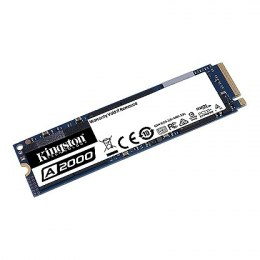Kingston SSD A2000 250 GB, SSD interface M.2 NVME, Write speed 1000 MB/s, Read speed 2200 MB/s