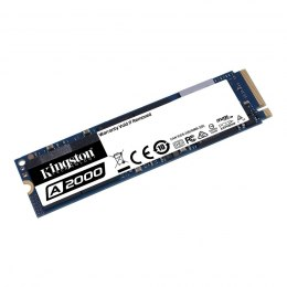 Kingston SSD A2000 500 GB, SSD interface M.2 NVME, Write speed 1500 MB/s, Read speed 2200 MB/s