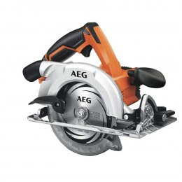 AEG Hand-Held Circular Saw, 18 volt. Speed: 4400/min. Max cutting depth: 90° -54mm 45° -41mm. Blade: 165mm TCT.