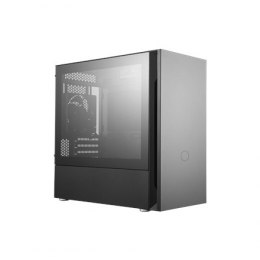 Cooler Master SILENCIO S400 with TG side panel Black, Mini ITX, Micro ATX, Power supply included No