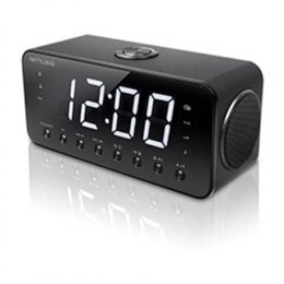 Muse Clock radio M-192CR Black, Display : 1.8 inch white LED with dimmer